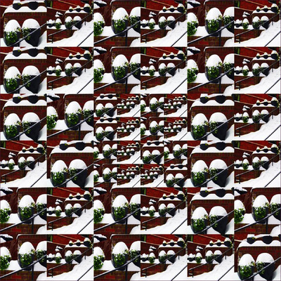 Museum Quality Photographic Art - 2009 Snow-Capped Planters (sold)
