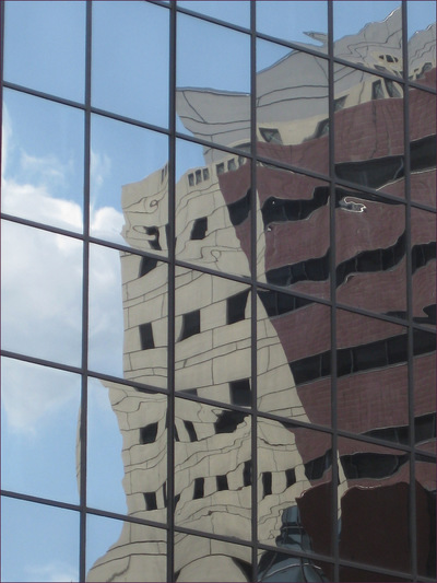 Museum Quality Photographic Art - 2011 Portland Building reflected in Congress Center