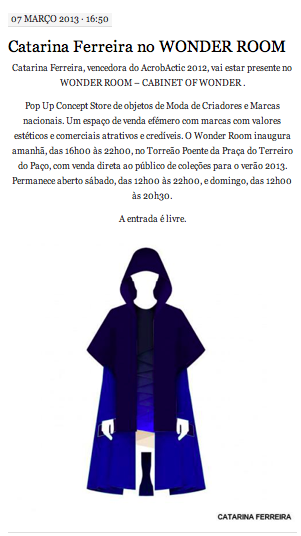 Catarina Ferreira - Acrobatic | Overlay SS13 | WonderRoom