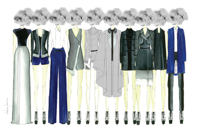 Catarina Ferreira - YSL by Catarina Ferreira | White Smoking SS12 | ESAD