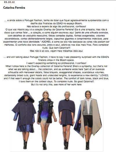 Catarina Ferreira - Jo and Company Style | Overlay SS13 | Espaço Bloom