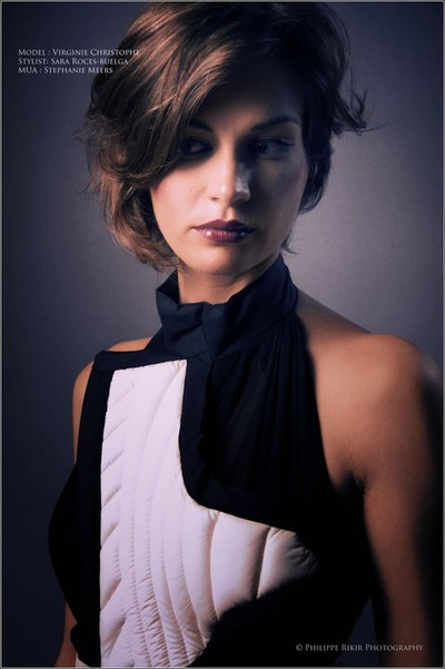 Stéphanie Meers Make up Artist - Photographer Philippe Rikir Fashion design by Sara Roces-Buelga