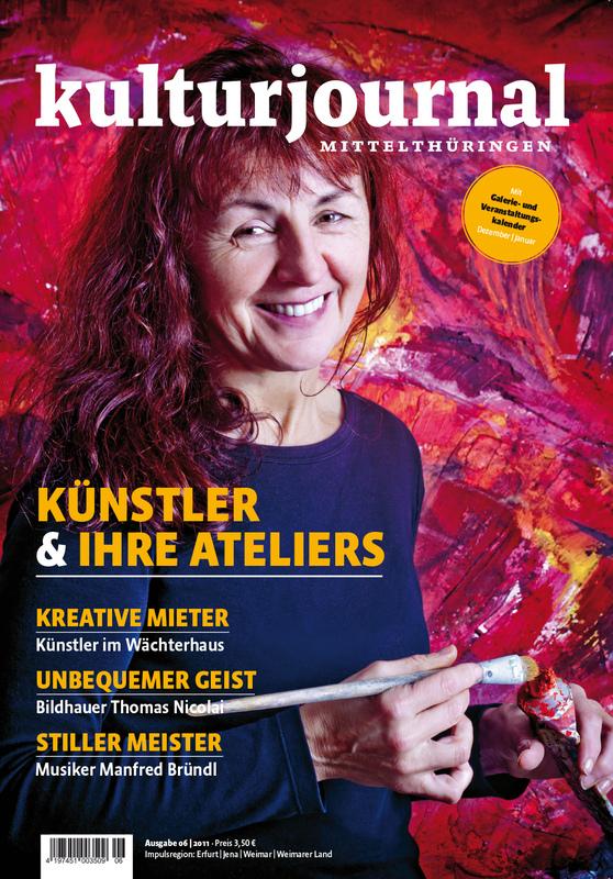Matthias Eckert | Fotograf aus Weimar/Thüringen - Edel Vostry, Malerin | Titelbild Kulturjournal 06/11