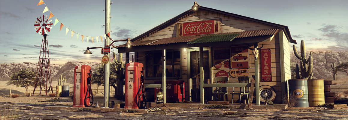 eugeniogarcia - Desert Gas Station