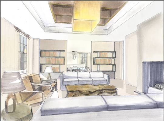 ka ying - Living Room Sketch