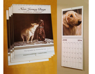 New Jersey Dogs Calendar and Book Project - FREE SHIPPING! FOUR SIGNED CALENDARS ($19.97 x 4 = $79.88). Please allow up to 5 business days for processing & delivery. Deliveries to NJ addresses save 7% instantly because we pay the sales tax!