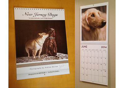 New Jersey Dogs Calendar and Book Project - ONE SIGNED CALENDAR ($19.97 plus $4.99 Shipping/Handling via Priority Mail). Please allow up to 5 business days for processing & delivery. Deliveries to NJ addresses save 7% instantly because we pay the sales tax!