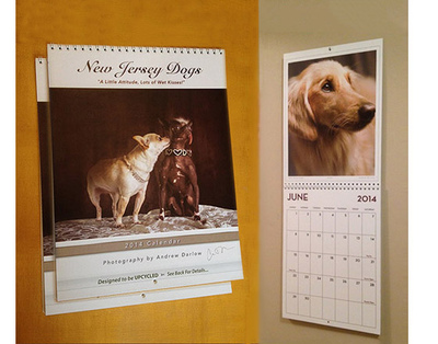 New Jersey Dogs Calendar and Book Project - TWO SIGNED CALENDARS ($19.97 x 2 = $39.94), plus $4.99 Shipping/Handling via Priority Mail. Please allow up to 5 business days for processing & delivery. Deliveries to NJ addresses save 7% instantly because we pay the sales tax!