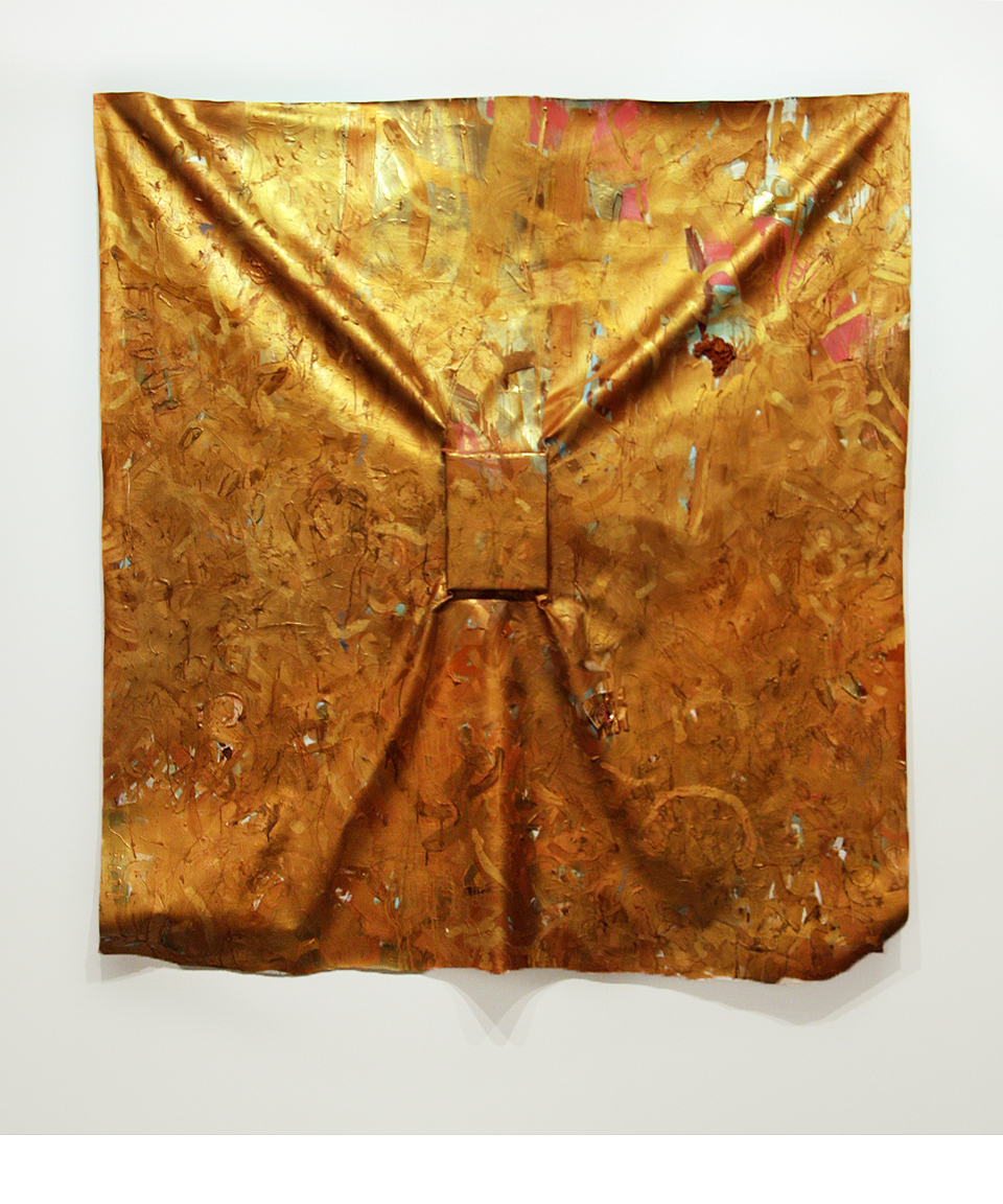 Matias Cuevas - All the People that Left Me Because I Was Not Able to Conquer Them Oil, wax, twix, canvas turp, staples, and wood frame on the wall 72 x 72 (182.88 cm x 182.88 cm) 2009 ©Matias Cuevas