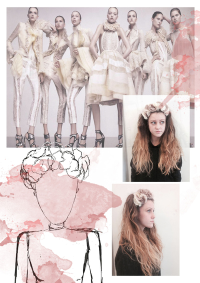 Sarah Davies Fashion Portfolio - My theme is floral as I personally love floral designs and after research found that S/S 2014 trends feature many floral pieces. Here are some examples of samples which were inspired by Balenciaga using fabric manipulation.
