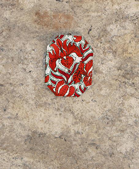 Luana Cruciato - Christ Moulage en plâtre et peinture acrylique 19cm x 14,5cm Forum Wallis, Loèche 2011