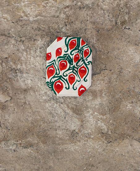 Luana Cruciato - Vierge Moulage en plâtre et peinture acrylique 19cm x 14,5cm Forum Wallis, Loèche 2011
