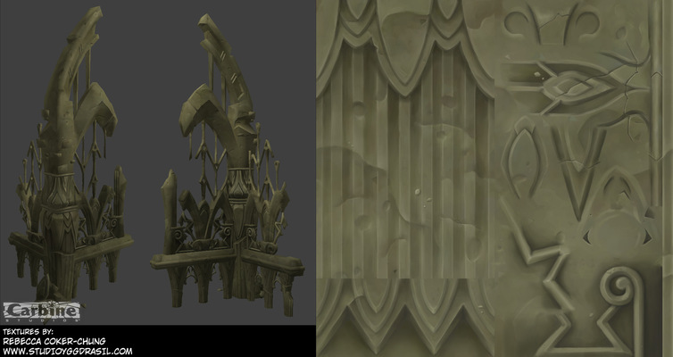 Rebecca Chung Designs - Anchient stone ruins