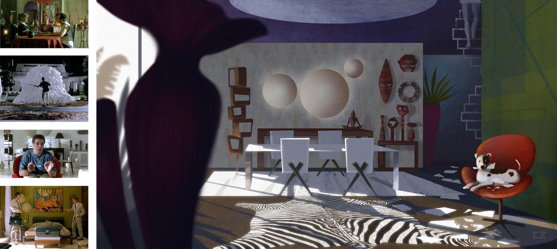 carlos zaragoza▪production designer - EL CHOCOLATE DEL LORO / 2004 / Production Designer Concept for Uncle Rafaels House