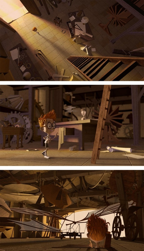 carlos zaragoza ▪ visual storytelling - MR. PEABODY & SHERMAN / 2014 / DreamWorks Animation / Visual development artist Leonardo da Vinci workshop / Set design