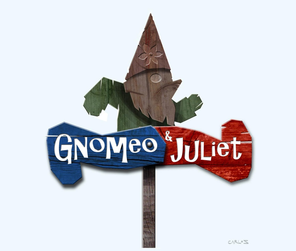 carlos zaragoza ▪ visual storytelling - GNOMEO & JULIET / 2011 / Rocket Pictures / Designer Early concept for the movie logo