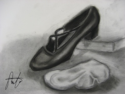 Theresas Artwork Portfolio - Shoe and Sock