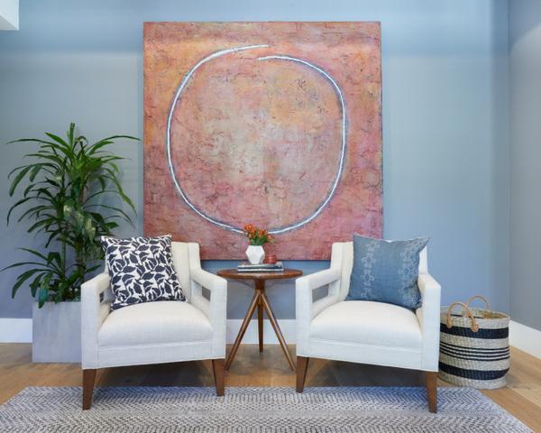 Gilmore Design Studio - artwork in living room