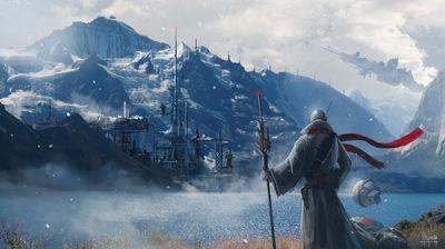 The Art of Randy Hagmann - Environment Concept - Mountain Base