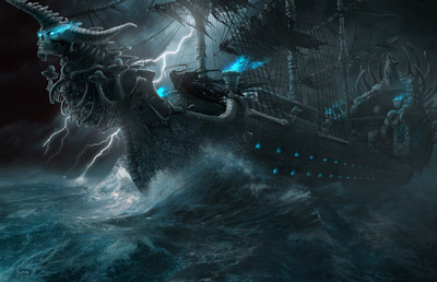 The Art of Randy Hagmann - Ghost Ship Concept Galley of Death