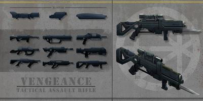 The Art of Randy Hagmann - Weapon Design - Tactical Assault Rifle