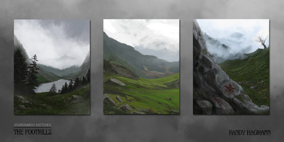 The Art of Randy Hagmann - Environment Sketches - The Foothills