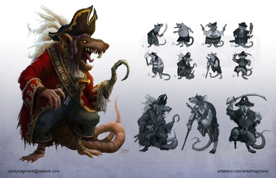 The Art of Randy Hagmann - Character Design - Wharf Rat