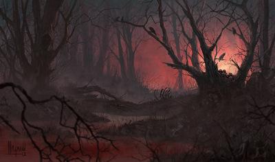 The Art of Randy Hagmann - Environment Concept -  Blood Marsh