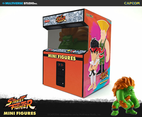 miguelwilson - Street Fighter Mini Figures Arcade Cabinet Package Design