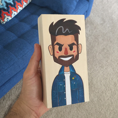 miguelwilson - Miggity Migs Hand Painted Bloc!