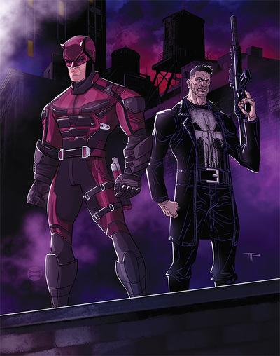 miguelwilson - Daredevil x Punisher
