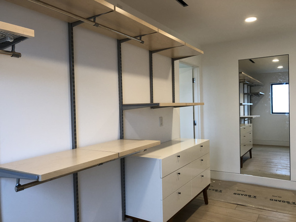 Schism Design - Master closet with flush mounted mirror