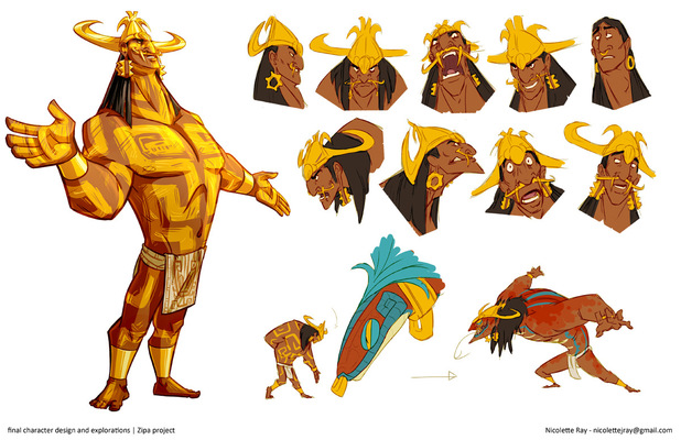 Nicolettes Visual Design Portfolio - character design - Zipa