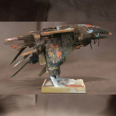 craigmartinezart - Old Raven / 37 x 16 x 40