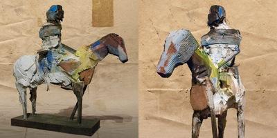 craigmartinezart - Yellow Horse / 13 x 4 x 10