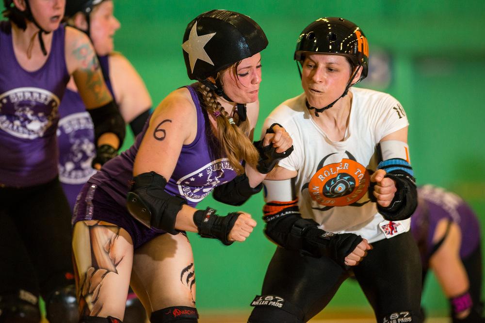 Roller Derby Photography - Jur-ass-kick Park Severn Roller Torrent vs Surrey Roller Girls