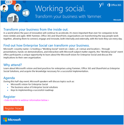 Stacy Reilly Design - Register for an event to learn about Yammer