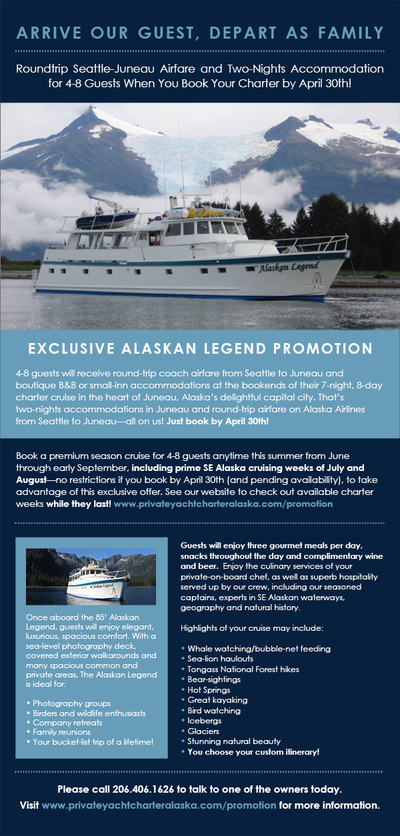 Stacy Reilly Design - Alaskan Legend Charter Cruise email blast