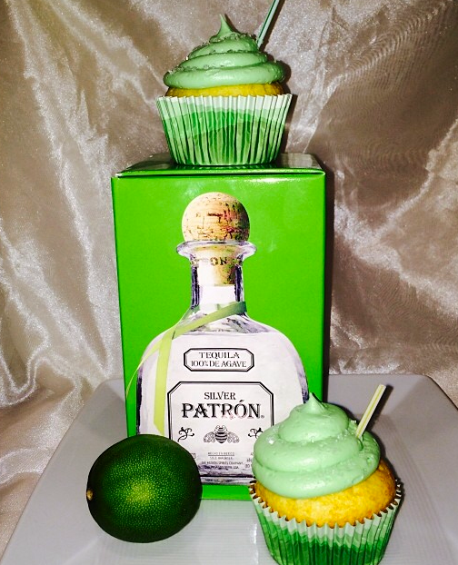 A Bakers Journey - Patron Margherita Cupcakes! Perfect for any 21+ occasion.