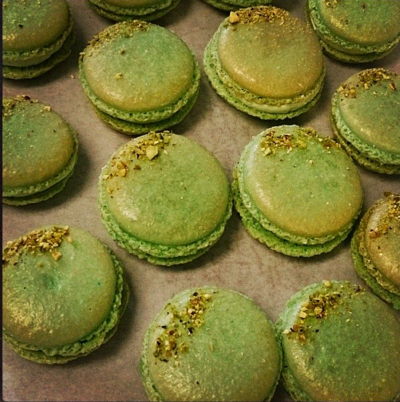 A Bakers Journey - Pistachio Macaroons