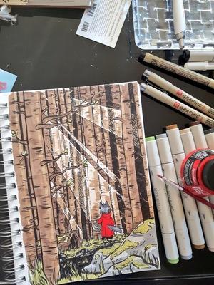 Amanda Thompsons Art Portfolio - Inktober Wolf