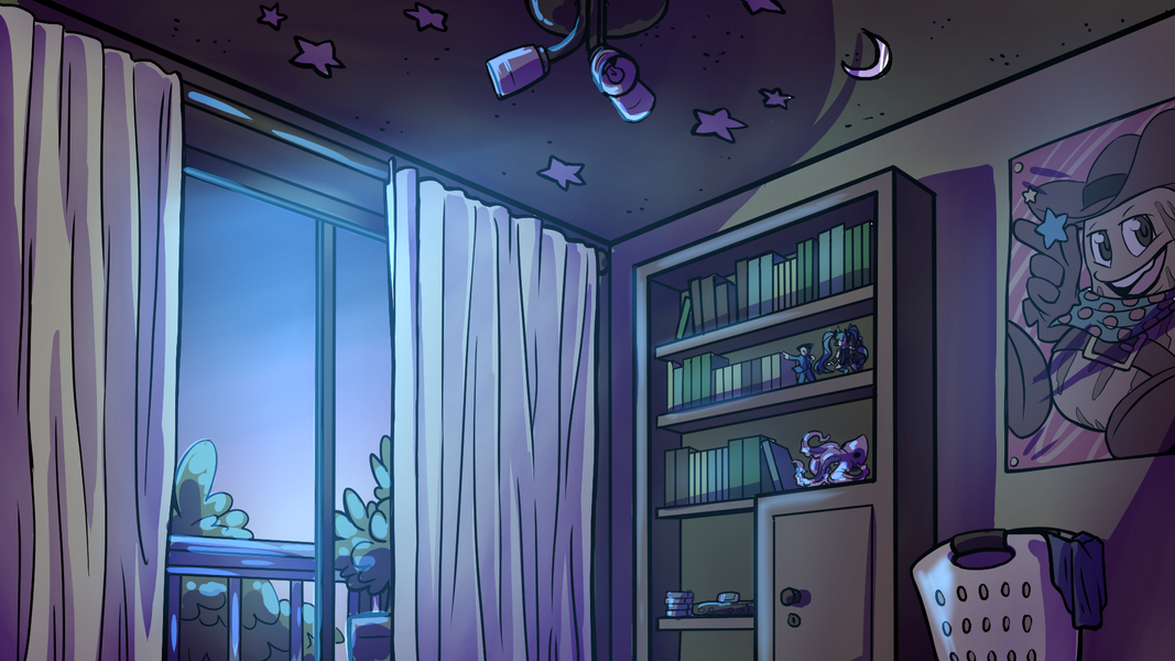 Amanda Thompsons Art Portfolio - Bedroom Interior (Night)