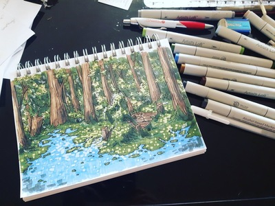 Amanda Thompsons Art Portfolio - Inktober Swamp