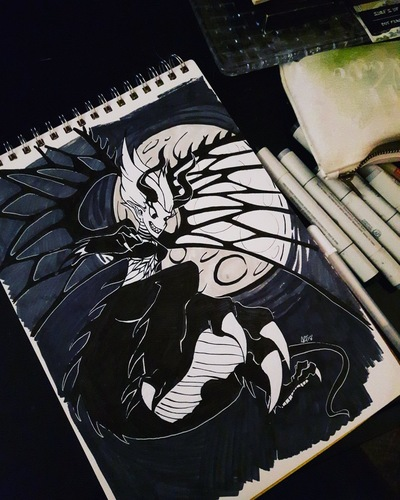 Amanda Thompsons Art Portfolio - Inktober Dragon