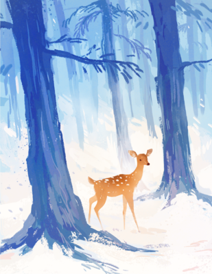 megan wood illustration - Winter