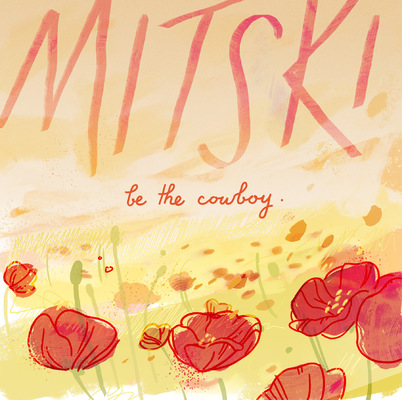 megan wood illustration - Mitski album cover