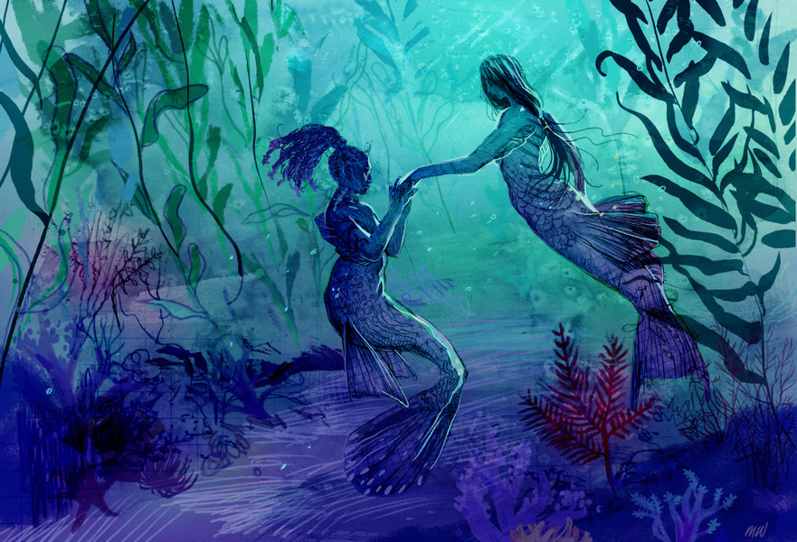 megan wood illustration - Mermay