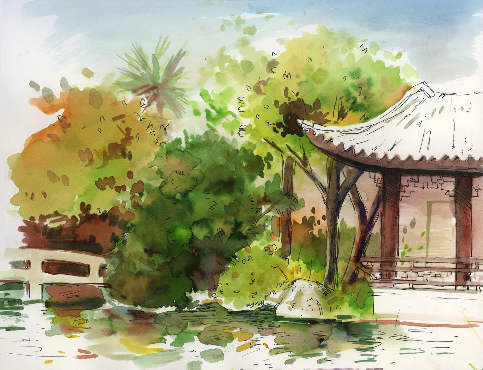 megan wood illustration - Lan Su Gardens