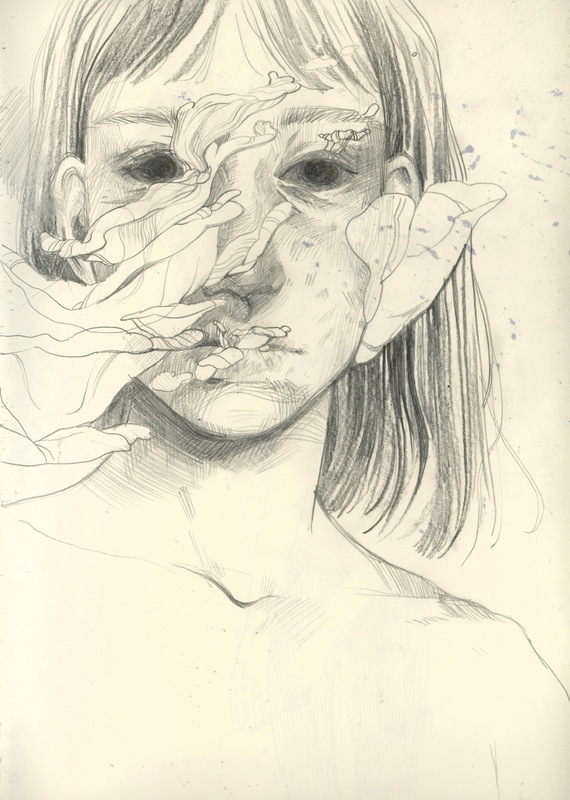 megan wood illustration - Graphite