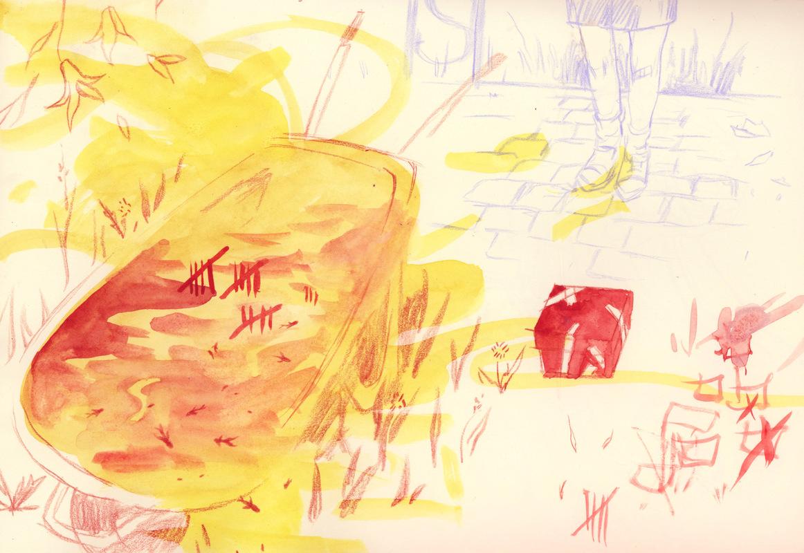 megan wood illustration - Watercolors, colored pencil